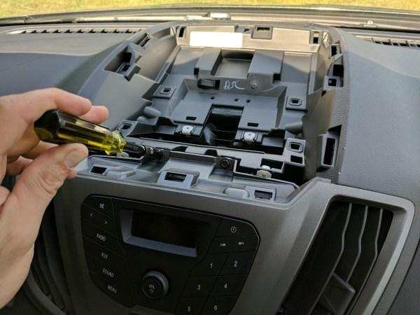 Ford Transit Radio Upgrade DDIN Joying Android (4)