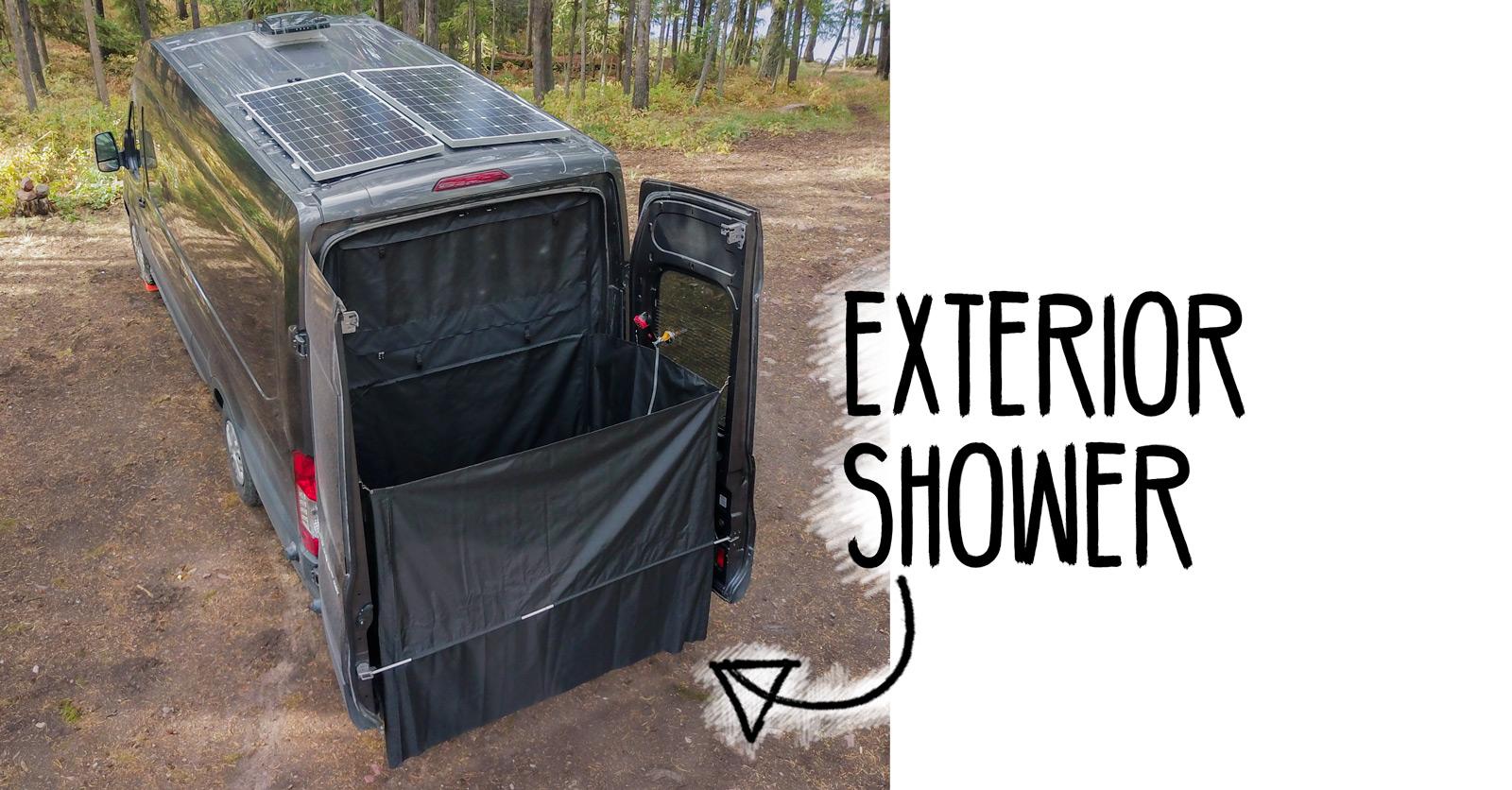 Exterior Shower For Camper Van Conversion