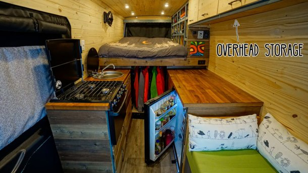 Overhead Storage Van Conversion