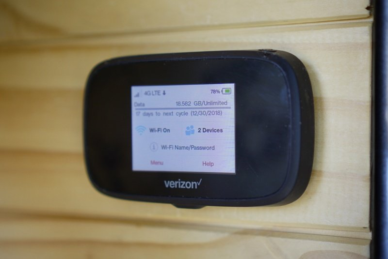 Verizon MiFi Holds with Velcro Van Conversion