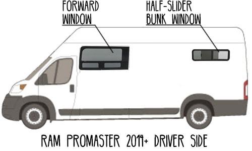 Aftermarket-CRL-Window-Ram-ProMaster-Van,-Driver-side