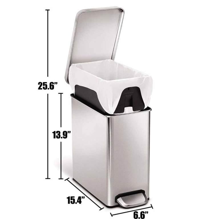 SimpleHuman-2-6-Gallon-Trash-Can-Camper-Van-RV-Dimensions