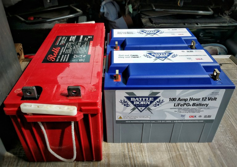 Replace Rolls AGM with Battle Born Batteries Lithium