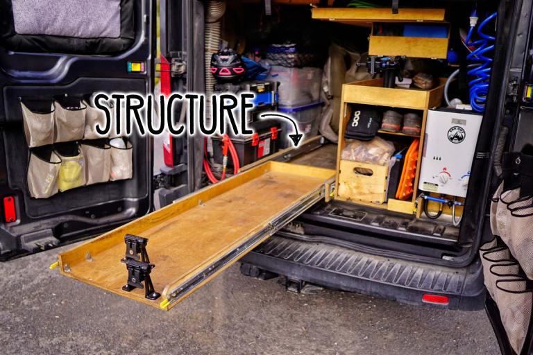 Slide-Out-Bike-Rack-Structure
