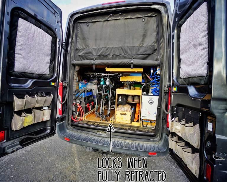 Van-Bike-Storage-Lock-Retracted