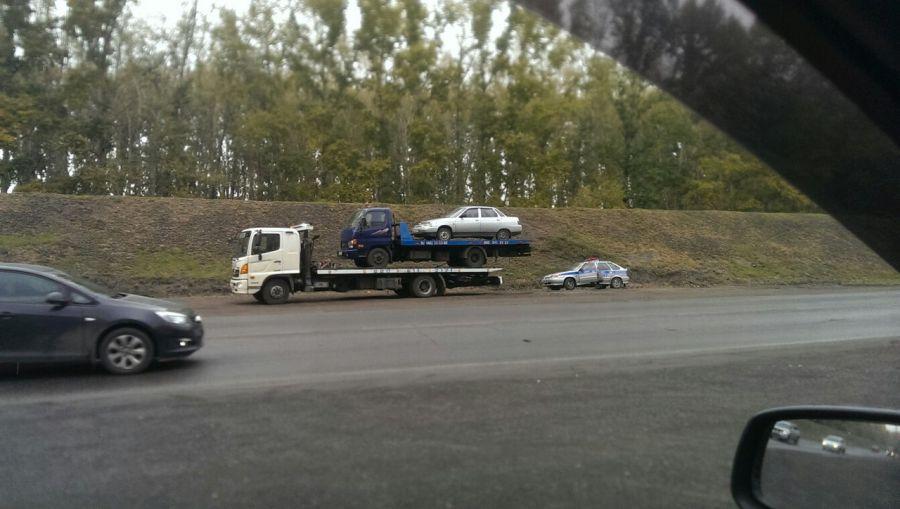 В Новокузнецке эвакуатор эвакуировал эвакуатор с эвакуированным автомобилем.
