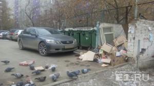 «Я паркуюсь как…»: автохамка со стажем, Lexus на помойке и нарушители на невидимых тротуарах