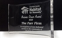 Charlotte County Habitat for Humanity Award