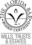 Logo for Florida Bar Board Certified in Wills, Trusts & Estates