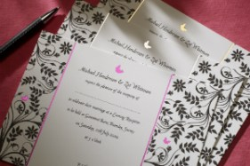 Luxury Wedding Invitations Butterfly 300 x 200