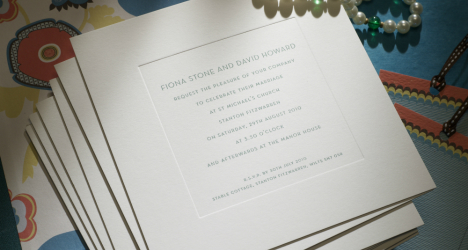 Luxury Wedding Invitations New Bond Street 468 x 250