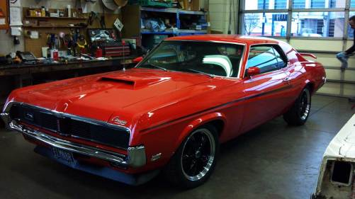 muscle car with new auto glass