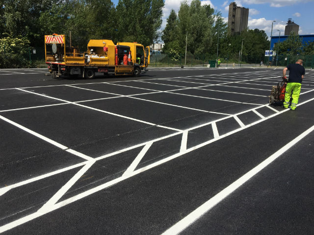 Stanmore car park lining