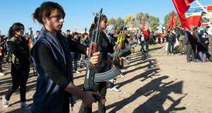 گردان متشکل از زنان کرد در سوریه