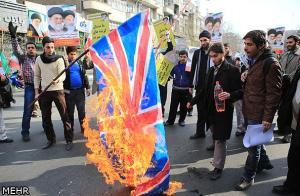 آتش زدن پرچم