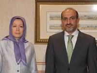 فیلم – خشم و وحشت رسانه های جمهوری اسلامی از دیدار خانم مریم رجوی و احمد جربا
