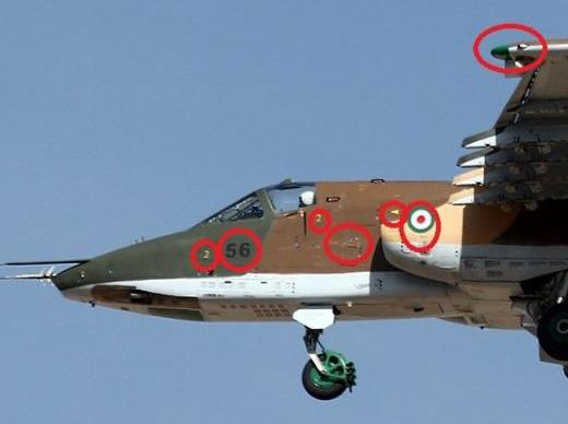 عکسی از هواپیمای روسی سوخوی 25 با شماره سریال 56 متعلق به جمهوری اسلامی پیش از ارسال به عراق