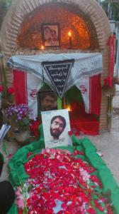 پاسدار غلامعلی پازوکی خاک شده در کرمان، 14 آبان 1392