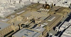 تصویری از ماکت صحن زیارتگاه حضرت زهرا در نجف - عراق که با پول مردم تحت ستم و مظلوم ایران در حال ساخته شدن است
