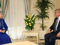 دیدار معاون پارلمان اروپا با خانم مریم رجوی در اورسور اواز