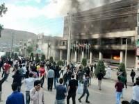 تظاهرات خونین در شهر مهاباد در پی قتل (خودکشی) فجیع یک دختر مهابادی + عکس