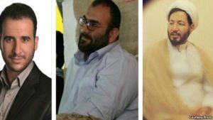 از راست به چپ: علی تمامزاده، اسماعیل سیرتنیا، و میلاد مصطفوی