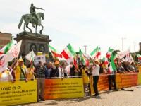 گزارش تصویری از تظاهرات یاران مقاومت بر علیه حضور وزیر خارجه رژیم در استکهلم