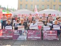 گزارش تصویری از اعتصاب غذای 3 روزه یاران مقاومت در شهر یوتبوری – سوئد