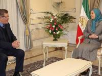 دیدار مریم رجوی با ژرارد دپره رئیس گروه دوستان ایران آزاد در پارلمان اروپا