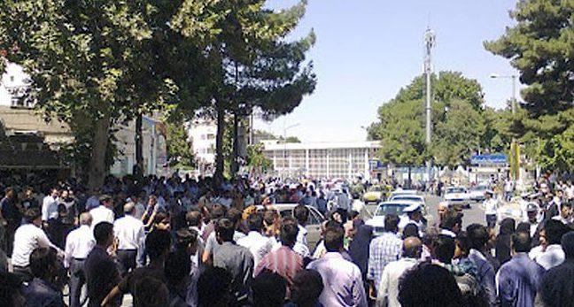 شلیک نیروی سرکوبگر انتظامی به تجمع اعتراضی کارگران نیشکر هفت تپه
