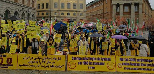 استکهلم- تظاهرات بزرگ ایرانیان علیه مجازات اعدام+ عکس