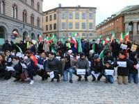 تظاهرات در چند شهر سوئد در حمایت از قیام ایران