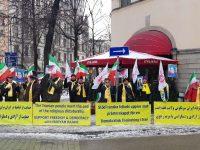 تظاهرات علیه سفر هیئت بازرگانی رژیم آخوندی در استکهلم + تصاویر