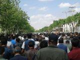 کشاورزان دلیر  در اصفهان: «دشمن ما همینجاست، الکی میگن آمریکاست»