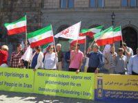 آکسیون در حمایت قیام مردم ایران در سوئد