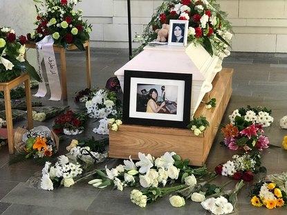 برگزاری مراسم خاکسپاری خانم پریرخ سببی (عاطفه)