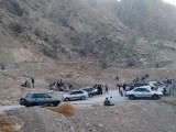 تجمع کارگران سد «چمشیر» در محوطه کارگاه
