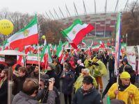 ورشو: تظاهرات ایرانیان آزاده برای حمایت از قیام مردم ایران
