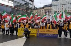 تظاهرات در چند شهر سوئد در حمایت از قیامکنندگان قهرمان در ایران