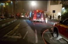 آتشسوزی در میدان فردوسی تهران