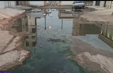 فاضلاب در معابر محله کیانشهر اهواز + فیلم
