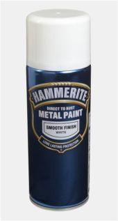 HAMMERITE GLATT SPRAY HVIT  400ML