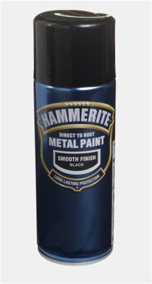 HAMMERITE GLATT SPRAY SORT  400ML