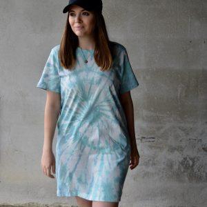 Batik / Tie-Dye Kleid Ocean Girl - Handmade