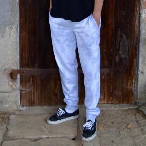 Batik / Tie-Dye Pants Light Grey - Handmade, Organic