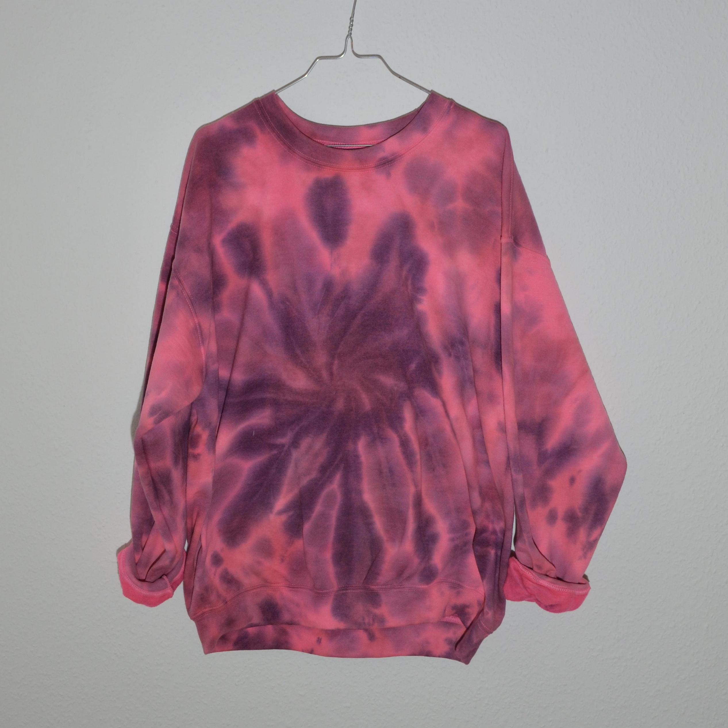 Batik / Tie-Dye Sweater Crazy Pink – Handmade