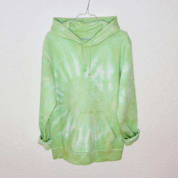 Batik / Tie-Dye Hoodie Lime Juice - Organic, Handmade