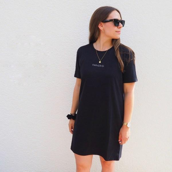 FARVERIG T-Shirt Kleid - Organic, Schwarz