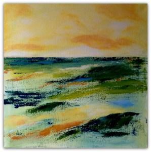 Spartel abstrakt  landskab, 50 - 50
