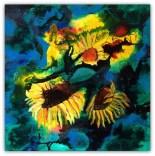 30 - 30 akryl abstrakt uden ramme ,med sort kant